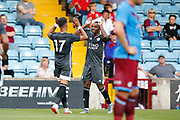 Ayoze Perez of Leicester City cScores a goal during the Pre-Season Friendly match between Scunthorpe United and Leicester City at Glanford Park, Scunthorpe, England on 16 July 2019.