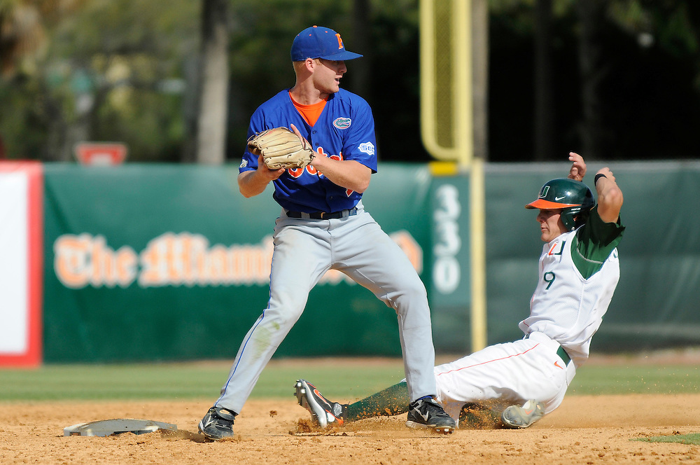 March 2, 2008 - Coral Gables, FL<br /> <br /> Clayton Pisani #7 of the Florida Gators in action during their 6-2 victory over the Miami Hurricanes at Alex Rodriguez Park in Coral Gables, Florida.<br /> <br /> JC Ridley/CSM
