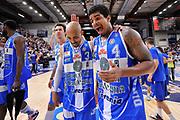 DESCRIZIONE : Campionato 2014/15 Serie A Beko Semifinale Playoff Gara4 Dinamo Banco di Sardegna Sassari - Olimpia EA7 Emporio Armani Milano<br /> GIOCATORE : David Logan Edgar Sosa<br /> CATEGORIA : Ritratto Esultanza Postgame<br /> SQUADRA : Dinamo Banco di Sardegna Sassari<br /> EVENTO : LegaBasket Serie A Beko 2014/2015 Playoff<br /> GARA : Dinamo Banco di Sardegna Sassari - Olimpia EA7 Emporio Armani Milano Gara4<br /> DATA : 04/06/2015<br /> SPORT : Pallacanestro <br /> AUTORE : Agenzia Ciamillo-Castoria/L.Canu<br /> Galleria : LegaBasket Serie A Beko 2014/2015