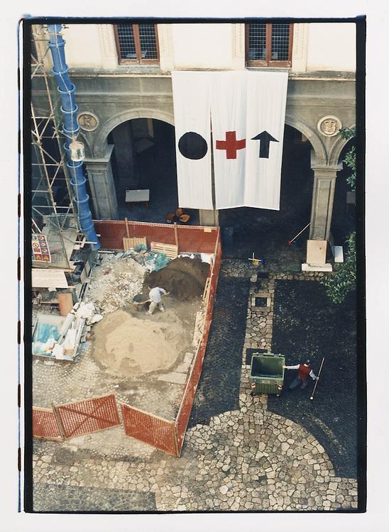 Napoli, No Global Forum, marzo 2001. 15 marzo, università occupata.