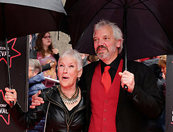 """Edinburgh International Film Festival, Sunday 26th June 2016<br /> <br /> Stars turn up on the closing night gala red carpet for the World Premiere of """"Whisky Galore!""""  at the Edinburgh International Film Festival 2016<br /> <br /> Ann Louis Ross who plays Mrs Campbell in the film with Nils den Hertog<br /> <br /> (c) Alex Todd   Edinburgh Elite media"""