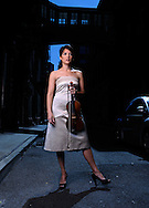 The violinist Anne Akiko Meyers in New York City.