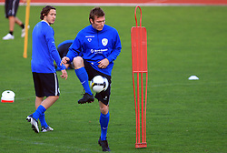 Matej Mavric at practice of Slovenian men National team, on October 13, 2008, in Domzale, Slovenia.  (Photo by Vid Ponikvar / Sportal Images)