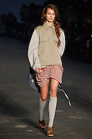 Jac walks the runway wearing Alexander Wang Spring 2010 collection during Mercedes-Benz Fashion Week in New York, NY on September 11, 2009