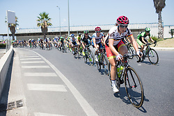 Lisa Klein (GER) of Cervélo-Bigla Cycling Team leads the peloton through Salerno on Stage 8 of the Giro Rosa - a 141.8 km road race, between Baronissi and Centola fraz. Palinuro on July 7, 2017, in Salerno, Italy. (Photo by Balint Hamvas/Velofocus.com)