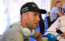 Team Dimension Data's Mark Cavendish during a press conference at The Vendespace, Mouilleron-le-Captif. PRESS ASSOCIATION Photo. Picture date: Thursday July 5, 2018, PRESS ASSOCIATION Photo. Photo credit should read: Ian Parker/PA Wire