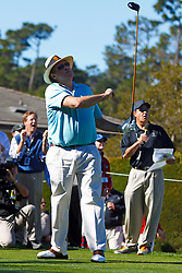Feb 8, 2012; Pebble Beach CA, USA;  Television commentator Chris Berman during the celebrity challenge of the AT&T Pebble Beach Pro-Am at Pebble Beach Golf Links. Mandatory Credit: Jason O. Watson-US PRESSWIRE