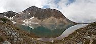 Alpine lake below Pyramid Mountain, Jasper National Park.