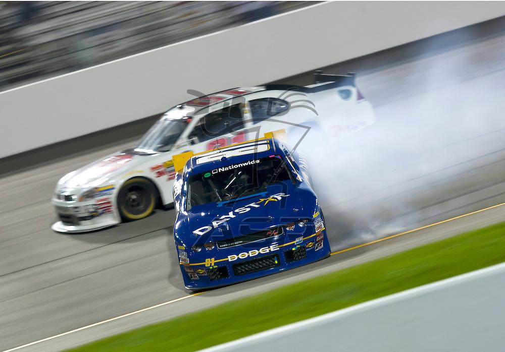 RICHMOND, VA  - SEP 09, 2011: Blake Koch gets spun out by Aric Almirola during the Virginia 529 College Savings 250 at the Richmond International Raceway in Richmond, VA.