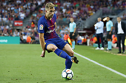 August 20, 2017 - Barcelona, Spain - Gerard Deulofeu during La Liga match between F.C. Barcelona v Real Betis Balompie, in Barcelona, on August 20, 2017. hoto: Joan Valls/Urbanandsport/Nurphoto  (Credit Image: © Urbanandsport/NurPhoto via ZUMA Press)