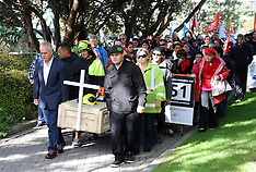 Wellington-Workers Memorial Day march to Parliament
