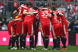 12.03.2011, Allianz Arena, Muenchen, GER, 1.FBL, FC Bayern Muenchen vs Hamburger SV, im Bild  die Bayern vor dem anpfiff, EXPA Pictures © 2011, PhotoCredit: EXPA/ nph/  Straubmeier       ****** out of GER / SWE / CRO  / BEL ******