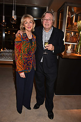 David Mellor and his wife Penny, Viscountess Cobham at the launch of Fiume at Battersea Power Station, Battersea, London England. 16 November 2017.<br /> Photo by Dominic O'Neill/SilverHub 0203 174 1069 sales@silverhubmedia.com
