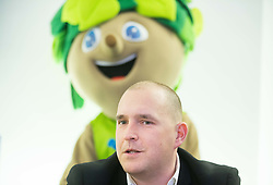 Matej Avanzo during press conference of Basketball Federation of Slovenia - KZS when signing a contract with Tourist agency Kompas for selling Eurobasket 2015 tickets, on March 2, 2015 in Ljubljana, Slovenia. Photo by Vid Ponikvar / Sportida