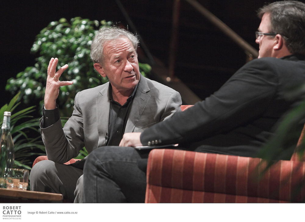 "One of the world's most widely read historians, Simon Schama is University Professor of Art History and History at Columbia University. Schama has been described as a ""scholar-artist [who]...marries jewel-like colouring of character, place and period with the iron grip of a strong pulsed narrative"".  His influential books include A History of Britain, Landscape and Memory, and Rough Crossings.   He was joined at NZ Post Writers & Readers Week by Sean Plunket."