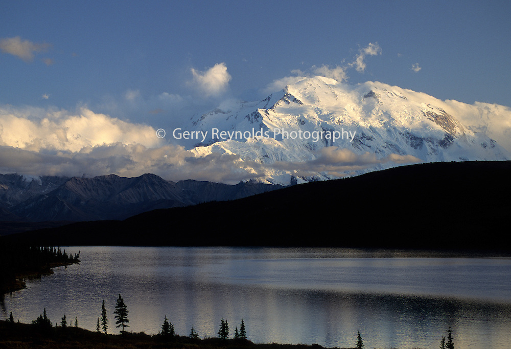 Mount McKinley, Wonder Lake, Sunset, Reflection, Denali National Park, Alaska