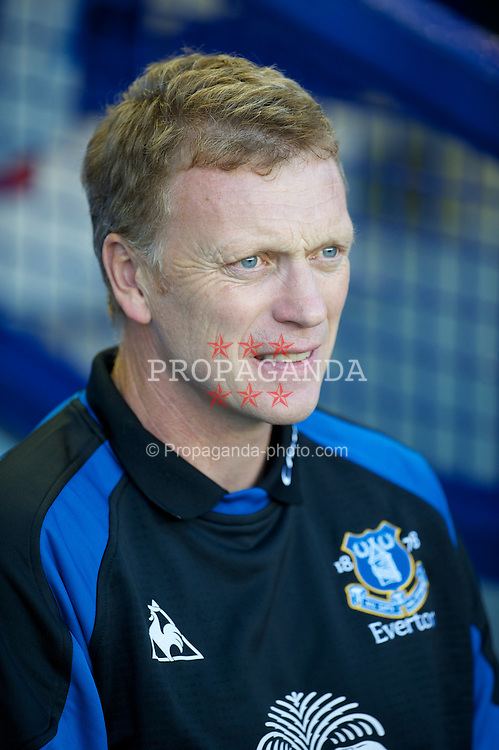 LIVERPOOL, ENGLAND - Wednesday, August 4, 2010: Everton's manager David Moyes before a preseason friendly match against Everton de Vina del Mar at Goodison Park. (Pic by: David Rawcliffe/Propaganda)