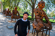 "Departure, the first UK solo exhibition of artist Xavier Mascaró (pictured). Highlights include: an installation of boats made from bronze and iron ""which are evocative of long-forgotten shipwrecks""; iron portraits of a young woman from the Eleonora series ""reminiscent of the profiles on ancient coins""; delicate metal works ""resembling votive figures from his Idols series""; and his Guardians series (pictured), of 10 feet high rusted iron warriors ""inspired by medieval armour and ancient Egyptian and Greek art"".  The latter being the first outdoor installation by the Gallery since moving to Chelsea. The show runs from 3 September until 5th October at The Saatchi Gallery, Chelsea, London. 01 September 2014."