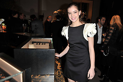 Actress HAILEE STEINFELD at the BAFTA Nominees party 2011 held at Asprey, 167 New Bond Street, London on 12th February 2011.