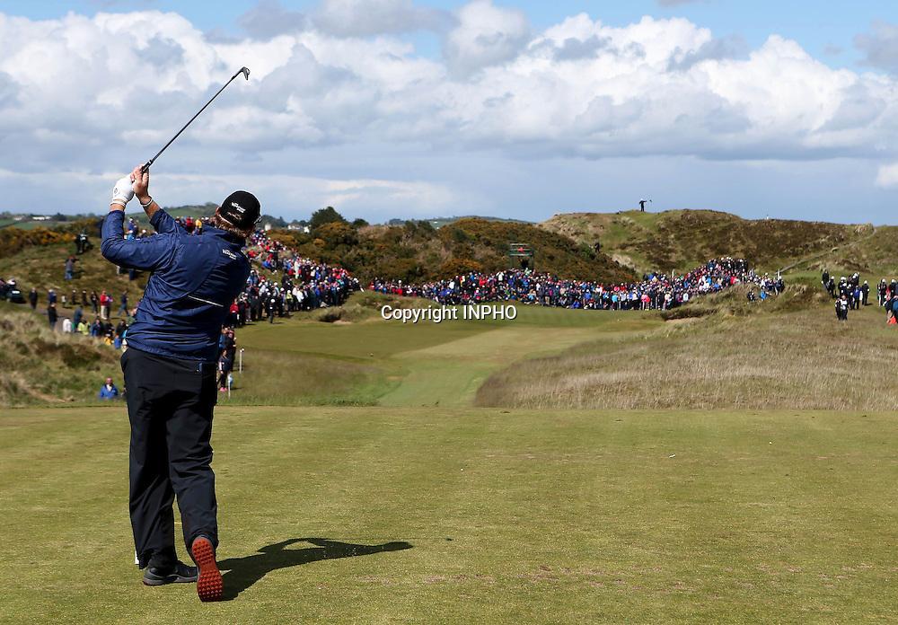 2015 Dubai Duty Free Irish Open Day 1, Royal County Down Golf Club, Co. Down 28/5/2015 <br /> Ernie Els<br /> Mandatory Credit &copy;INPHO/Presseye/Matt Makey
