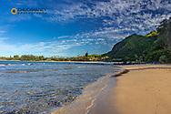Cannons Beach near Hanalei in Kauai, Hawaii, USA