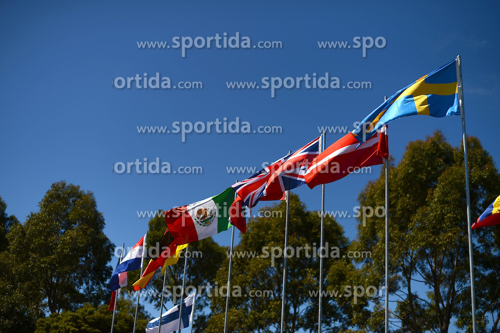 11.03.2015, Albert Park Circuit, Melbourne, AUS, FIA, Formel 1, Grand Prix von Australien, Vorberichte, im Bild Flags // during Preparations for the FIA Formula One Grand Prix of Australia at the Albert Park Circuit in Melbourne, Australia on 2015/03/11. EXPA Pictures &copy; 2015, PhotoCredit: EXPA/ Sutton Images/ Patrik Lundin Images<br /> <br /> *****ATTENTION - for AUT, SLO, CRO, SRB, BIH, MAZ only*****
