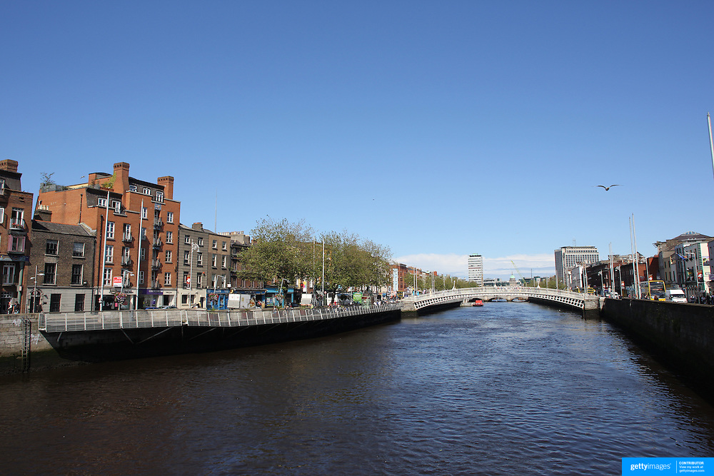 The River Liffey which flows through the centre of Dublin, Ireland. Photo Tim Clayton
