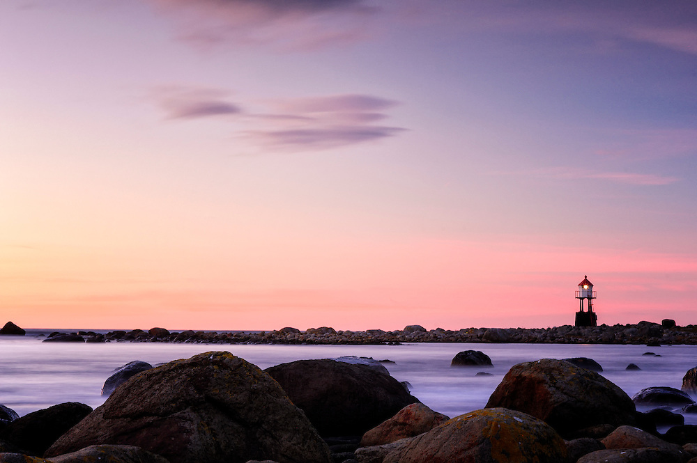 The small lighthouse at Nærland, Norway.