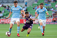 MELBOURNE, VIC - JANUARY 19: Perth Glory forward Joel Chianese (7) is taken down at the Hyundai A-League Round 14 soccer match between Melbourne City FC and Perth Glory at AAMI Park in VIC, Australia 19th January 2019. Image by (Speed Media/Icon Sportswire)