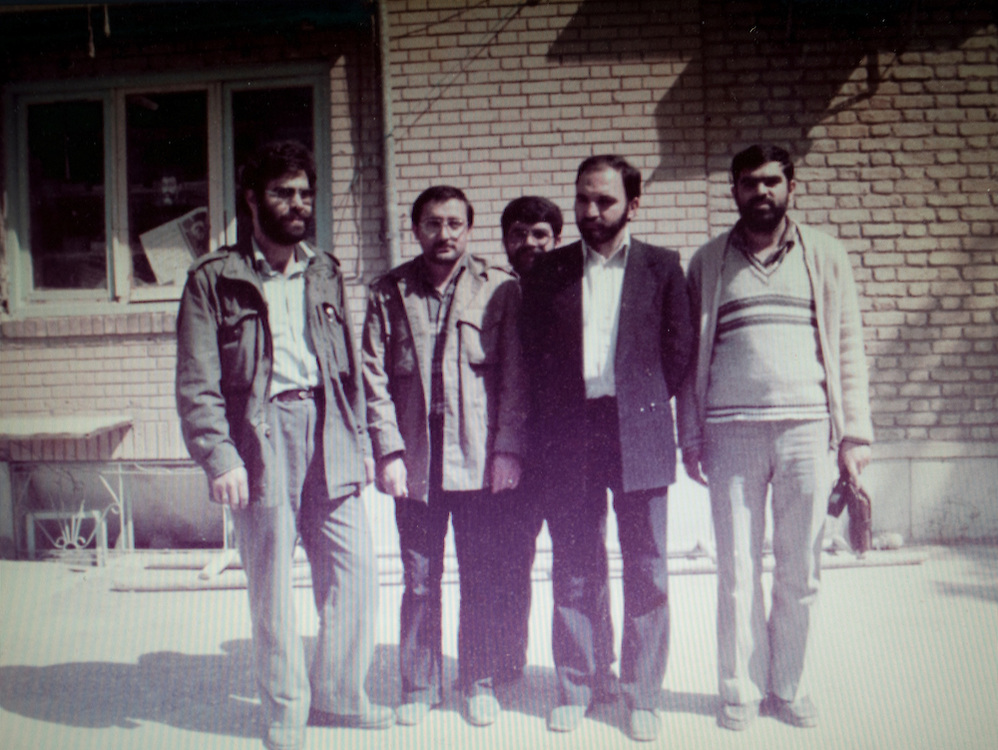 Vienna, VA - Iranian dissident Mohsen Sazegara from a family photo c. 1984 during the war with Iraq. He is second from the left, and next, second from right, is Dr. Abdul Karim Soroush, an important Islamic religious intellectual..Photo courtesy Mohsen Sazegara.