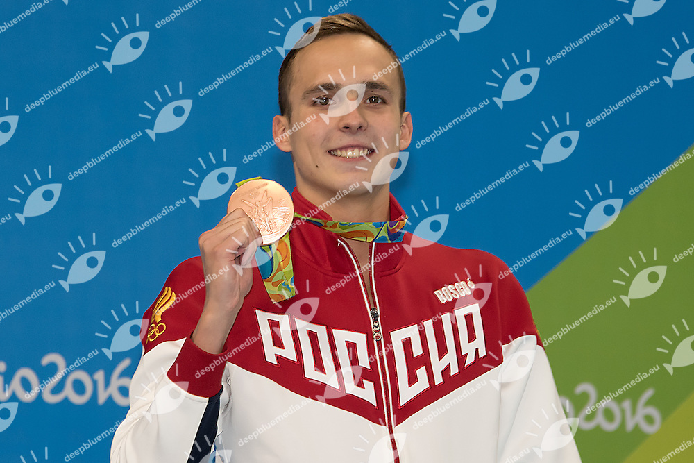 Chupkov Anton RUS bronze medal<br /> 200 breaststroke men<br /> Rio de Janeiro  XXXI Olympic Games <br /> Olympic Aquatics Stadium <br /> swimming finals 10/08/2016<br /> Photo Giorgio Scala/Deepbluemedia/Insidefoto