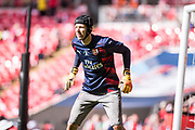 Arsenal goalkeeper Petr Cech (33) during the warm up at The FA Cup Final match between Arsenal and Chelsea at Wembley Stadium, London, England on 27 May 2017. Photo by Sebastian Frej.