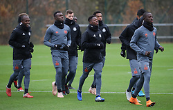 November 28, 2018 - Anderlecht, BELGIUM - Anderlecht's Knowledge Musona , Anderlecht's Bubacarr Sanneh, Anderlecht's Francis Amuzu and Anderlecht's Abdoul Karim Dante pictured during a training session of Belgian soccer team RSC Anderlecht, Wednesday 28 November 2018 in Anderlecht ahead of the match against Slovakian club Spartak Trnava, in the fifth day of the UEFA Europa League group stage, in group D. BELGA PHOTO VIRGINIE LEFOUR (Credit Image: © Virginie Lefour/Belga via ZUMA Press)