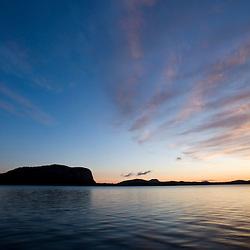 Mount Kineo on Moosehead Lake from Rockwood Landing Maine USA