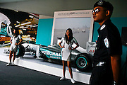 Mercedes GP Petronas demo car was part of the show during the Malaysian Formula One Grand Prix in Sepang, Malaysia, Sunday, April 10, 2011.