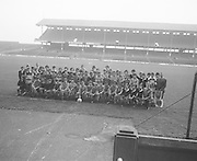 A group photograph of Mountmellick students on the pitch on their visit Croke Park on the 29th October 1975.