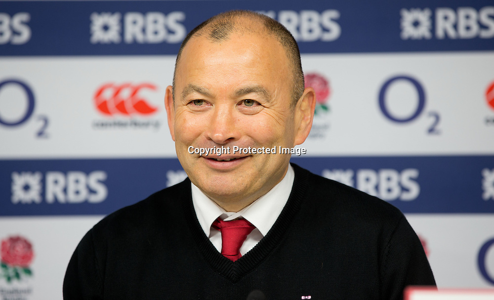 RBS 6 Nations Championship Round 4, Twickenham Stadium, London, England 12/3/2016<br /> England vs Wales<br /> England head coach Eddie Jones<br /> Mandatory Credit &copy;INPHO/Andrew Fosker