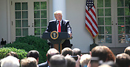 President Donald Trump announcesw his decision on the Paris Agreement.  The announcement was made in the White House Rose Garden on May 31, 2017 <br />