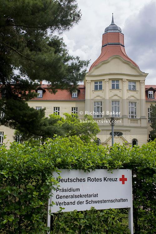German Red Cross (Deutsches Rotes Kreuz - DRK) administrative HQ at 58 Carstennstrasse, Berlin.