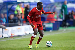 BIRKENHEAD, ENGLAND - Wednesday, September 13, 2017: Liverpool's Bobby Adekanye during the UEFA Youth League Group E match between Liverpool and Sevilla at Prenton Park. (Pic by Paul Greenwood/Propaganda)