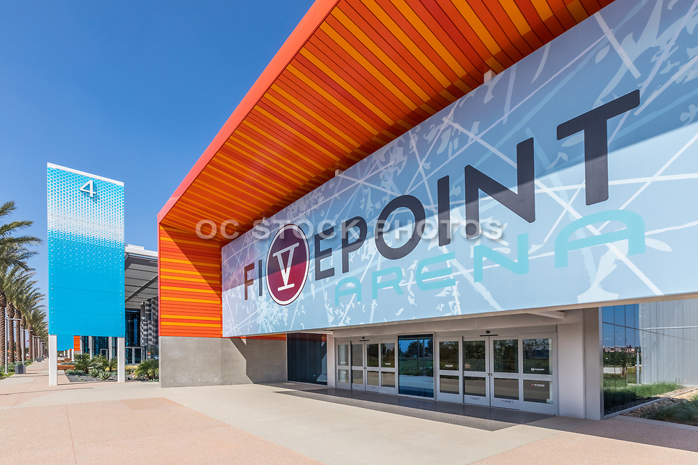Outside the Front Entrance to Fivepoint Arena at Orange County Great Park
