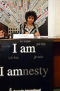 Roma  27 Aprile  2007.Irene Khan   Segretario Generale di Amnesty International presenta alla  Stampa Estera  il Rapporto sulla pena di Morte nel Mondo.Irene Khan  Secretary-General of Amnesty International presents to the Foreign Press the Report on the Death Penalty Worldwide