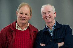 Pictured: Michael Morpurgo and David Almond<br /> <br /> Sir Michael Andrew Bridge Morpurgo, OBE, FRSL, FKC, DL is an English book author, poet, playwright, and librettist who is known best for children's novels such as War Horse.<br /> <br /> David Almond FRSL is a British author who has written several novels for children and young adults from 1998, each one receiving critical acclaim.