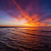 Today's  winter sunrise at Narragansett Town Beach,  .  June  17, 2013.