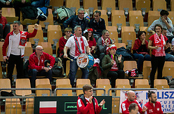 Supporters of Poland  during the Day 1 of Davis Cup 2018 Europe/Africa zone Group II between Slovenia and Poland, on February 3, 2018 in Arena Lukna, Maribor, Slovenia. Photo by Vid Ponikvar / Sportida