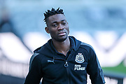 Christian Atsu (#30) of Newcastle United arrives ahead of the Premier League match between Newcastle United and Leicester City at St. James's Park, Newcastle, England on 9 December 2017. Photo by Craig Doyle.