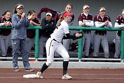 22 April 2017:  Allison Spence during a Missouri Valley Conference (MVC) women's softball game between the Missouri State Bears and the Illinois State Redbirds on Marian Kneer Field in Normal IL