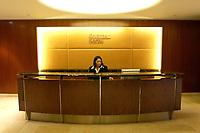 21 NOV 2003, NEW YORK/USA:<br /> Empfangstisch des Sitzes von Goldman Sachs, 85 Broad Street<br /> IMAGE: 20031121-01-039<br /> KEYWORDS: U.S.A., bank, Bankiers