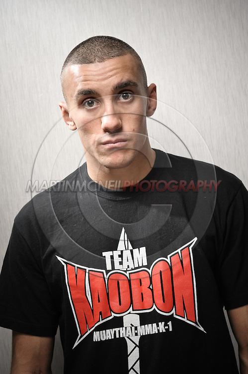 A portrait of mixed martial arts athlete Terry Etim