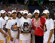during the 2009 MEAC Basketball Tournament at the Lawrence Joel Memorial Coliseum in Winston-Salem, North Carolina.  March 14, 2009  (Photo by Mark W. Sutton)
